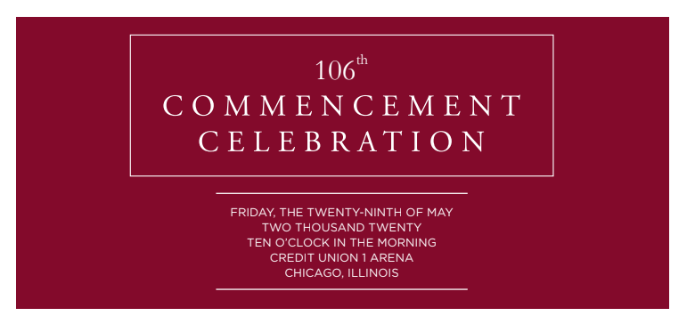 106th commencement celebration banner image